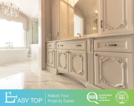 Luxury Wood Furniture French Antique Style Bathroom Cabinet Vanity