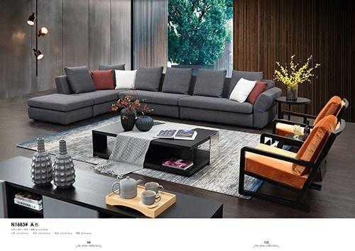 Whole Sale Cheap Home Living Room Furniture PU Leather Sofa