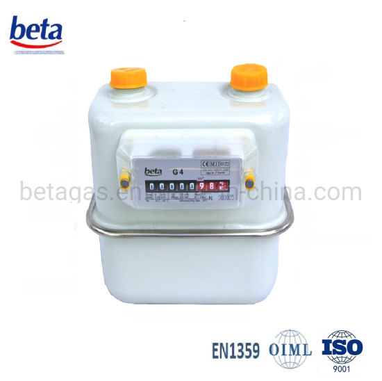 MID-Certified G1.6 Steel Case Diaphragm Gas Meter pictures & photos