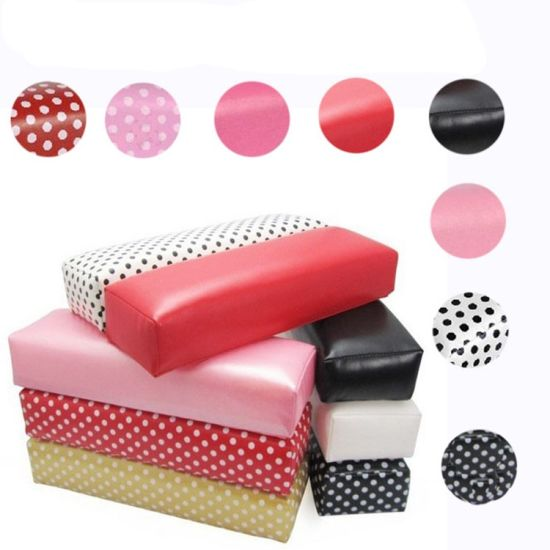 Leather Hand Arm Rest Semicircle Cushion Pillow Nail Art Design pictures & photos