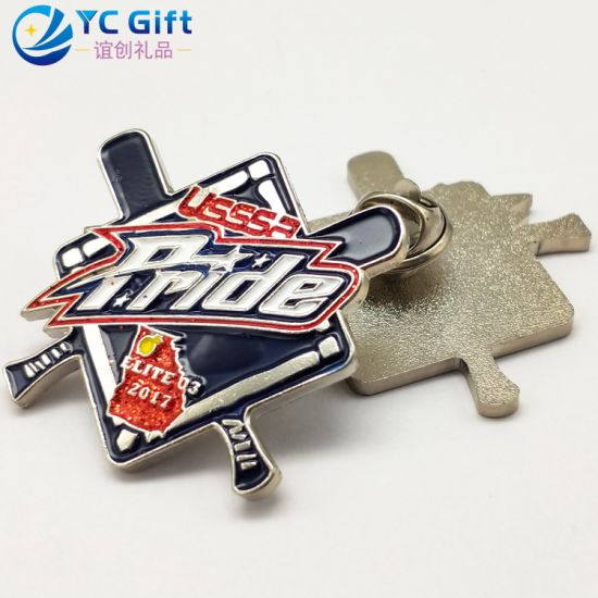 Custom Promotional Gift Sequin Decoration Fashion Apparel Accessories Badges Metal Crafts Soft Enamel Personalized Emblem Military Police Lapel Pins with Logo