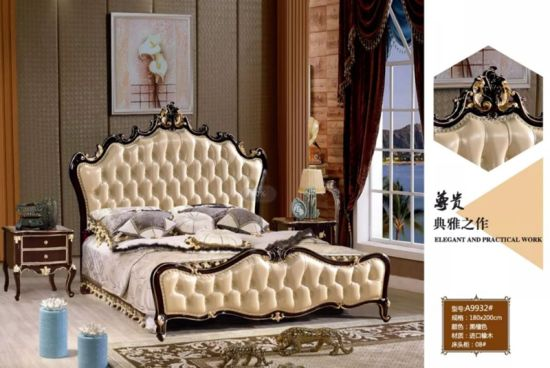 Classical Bedroom Furniture/Fabric Bed/European Bed/Leather Bed