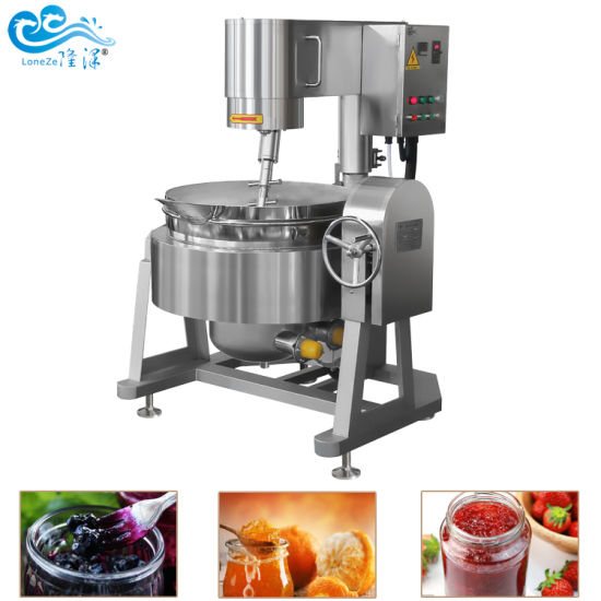2020 Manufacturer Industrial Commercial 300L Jacketed Cooking Kettle with Agitator for Jam Sauce on Hot Sale Approved by Ce Certificate