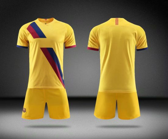 19/20 Barcelona Soccer Wear Yellow Football Jerseys
