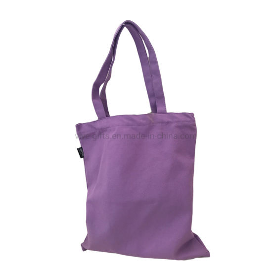 Promotion Custom Cotton Grocery Reusable Carrying Hand Canvas Tote Shopping Bag