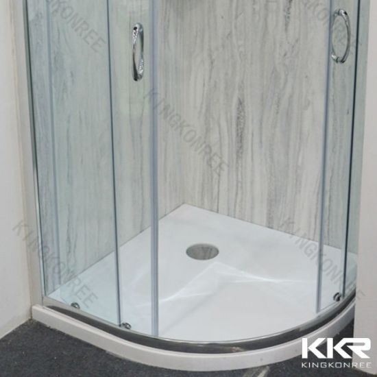 Exported Solid Surface Resin Stone Shower Tray