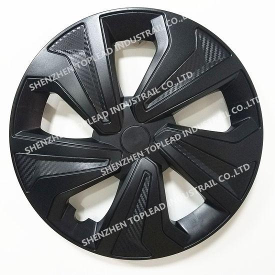 13 14 15 Twin Color Carbon Fiber Wheel Rims Car Center Hubcaps