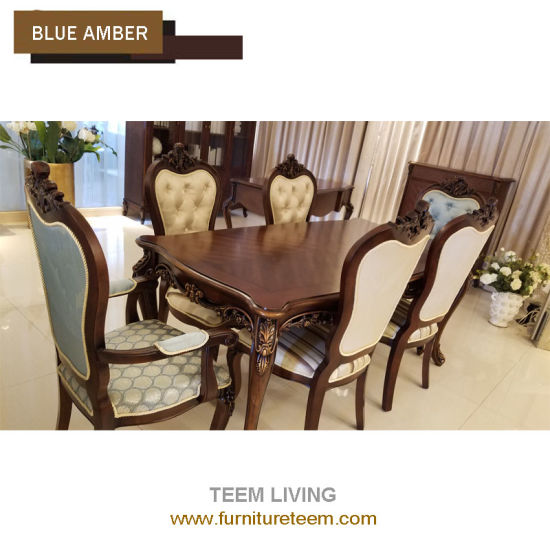 China Classic Home Furniture Dining Room Solid Wood Fabric Dining Delectable Arm Chair Dining Room Design