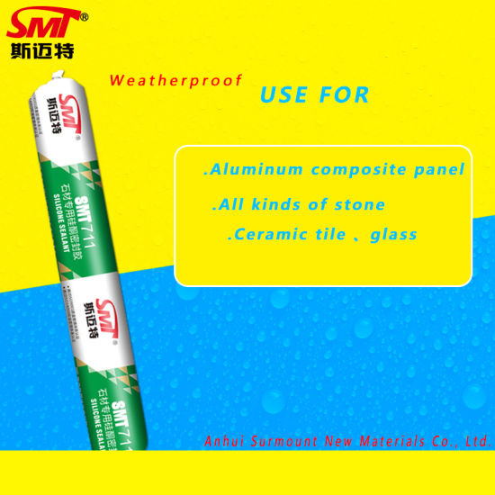 SMT-711 One Part Neutral Weatherproof Certified Special Silicone Sealant for Stone pictures & photos