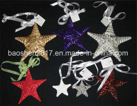 Customized Wicker Star Shape Christmas Decoration pictures & photos