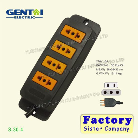 6 Ways Surge-Protection Extension Socket with Switch pictures & photos