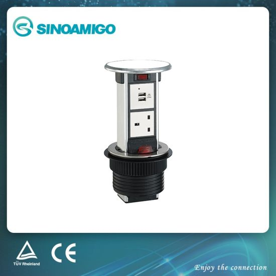 IP54 Rated Counter Power Outlet with BS Socket