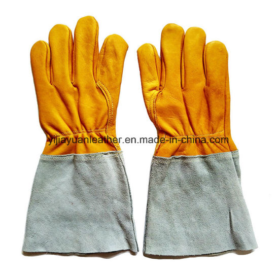 Leather MIG/TIG Welding Gloves pictures & photos