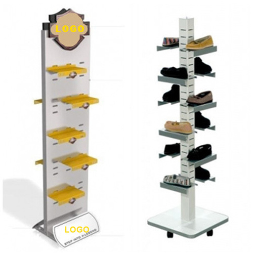 Durable 2-Sided Rotary Acrylic LED Display Rack Wooden Display Stand with Hooks for iPhone Accessories pictures & photos