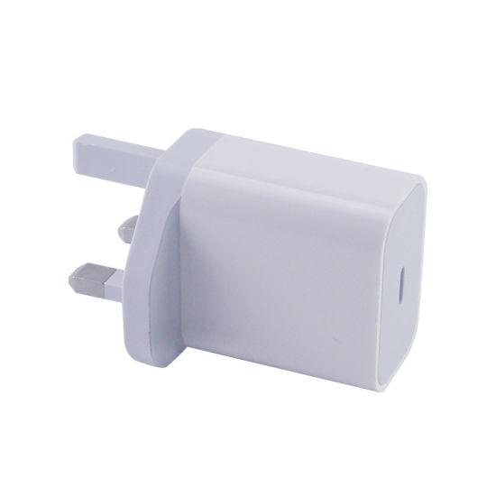 Us/EU/UK Plug 5V3a 9V2a 12V1.5A 18W USB Type-C Pd Charger