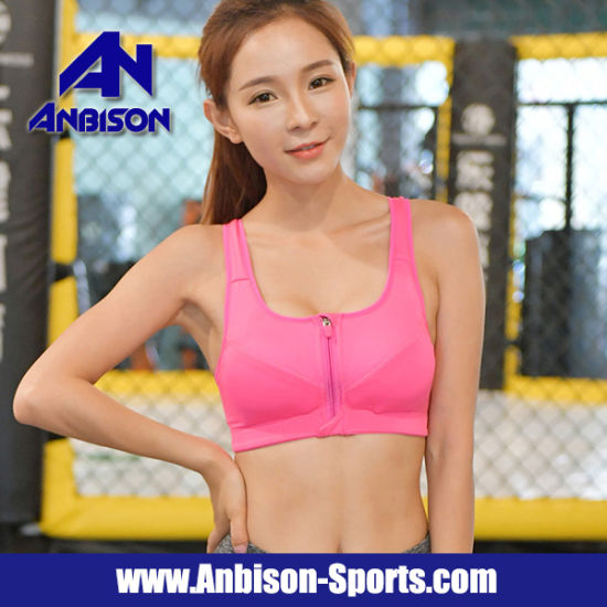 02debc6dadad5 Women′s High Impact Front Closure Racerback Full Support Sports Bra  pictures   photos