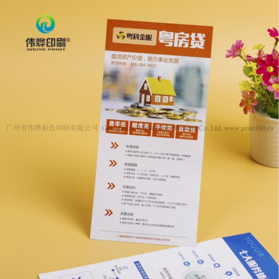 a4 size customized advertising leaflets colorful promotional paper printing pamphlets