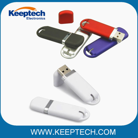 Plastic USB Flash Drive for Promotional Gift with Custom Logo