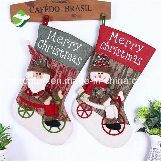 China Personalised Beautiful Xmas Stocking Luxury Sack Santa Deluxe ...