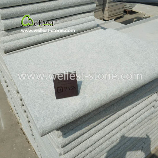 Bullnose Edge Flamed White Quartzite Coping Stone for Swimming Pool pictures & photos