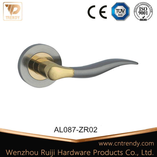 Aluminum Door Hardware Handle Lever Lock with Round Knob (Z6087-ZR02-CL)