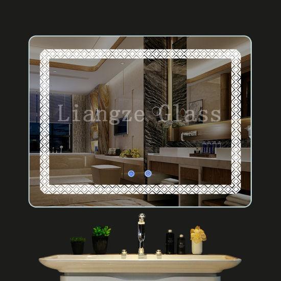 China Bluetooth Illuminated, Bathroom Mirror With Led Lights And Bluetooth