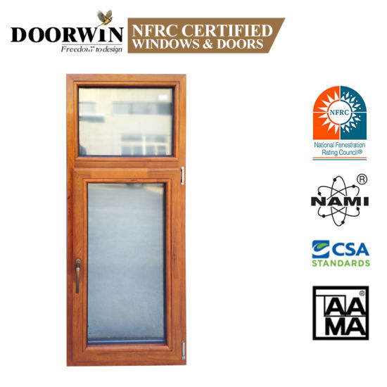 Made in China Latest Design Inside Open Aluminum Clad Wood 3 Glass Solid Wooden Tilt and Turn Casement Windows