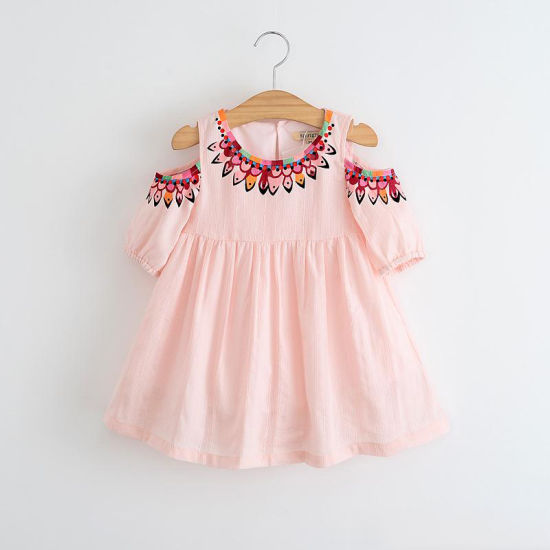 3aa364b7bd16 China 2018 Wholesale Spring Summer Baby Frocks Design off Shoulder ...