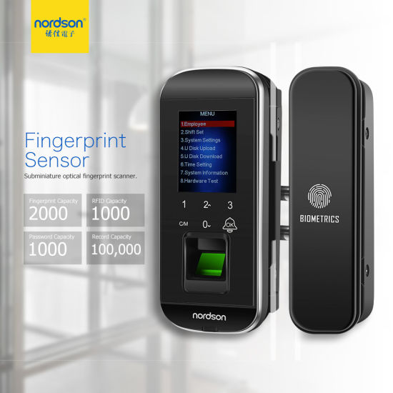 Optical Password Card Fingerprint Office Sliding Smart Remote Glass Door Lock pictures & photos