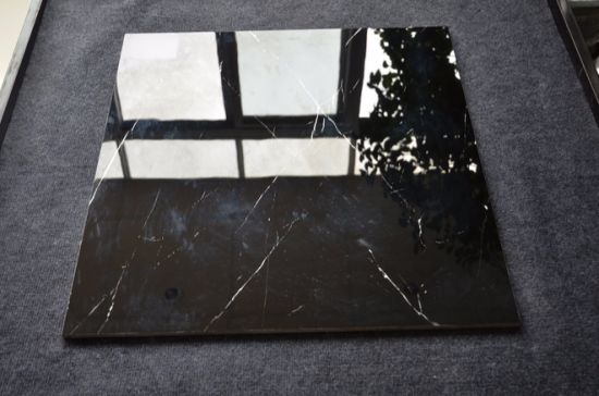 China Cheap Black Polished Porcelain Floor Tiles 600x600 China