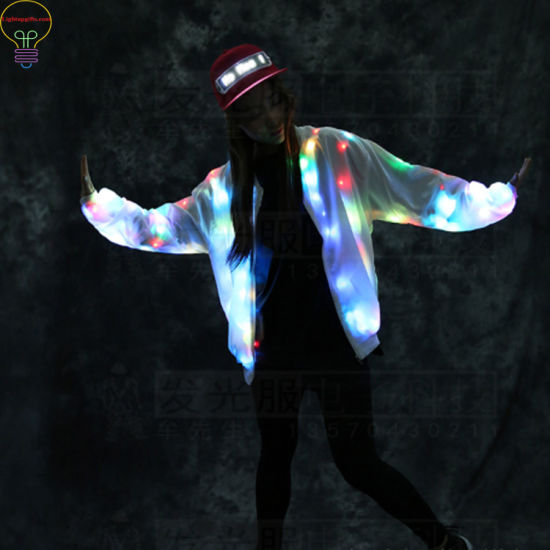 LED Jacket Lovers Baseball Clothes Colorful Night pictures & photos