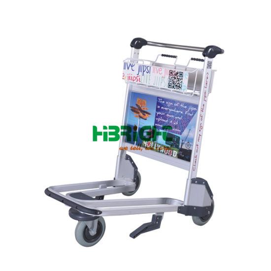 Hand Brake 3 Wheel Aluminum Airport Trolley