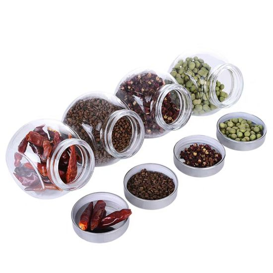 Food Storage Stainless Steel Cap Different Sized Glass Spice Jars