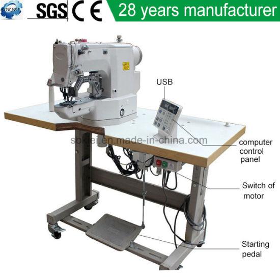 China Computer Programmable Bartacking Sewing Machine China Best Sewing Machine In China
