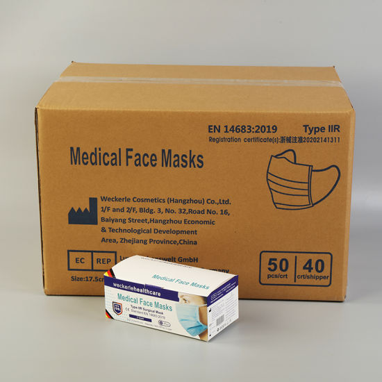 Washable Disposable Hosptial Protective Facial Face Type Iir Surgical Medical Mask