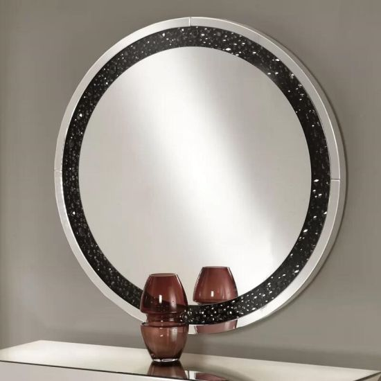 Silver Bling Mirror Floating Crystal Wall Decorative Mirror