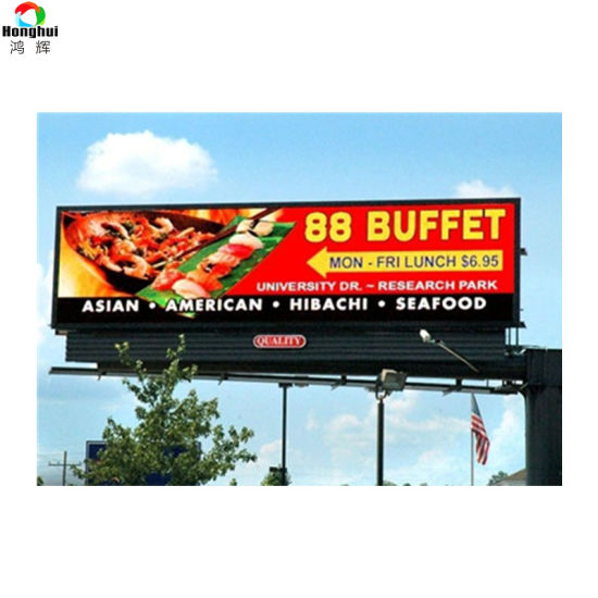 P6 Outdoor 7000CD LED Display Video Wall for Advertising Sign
