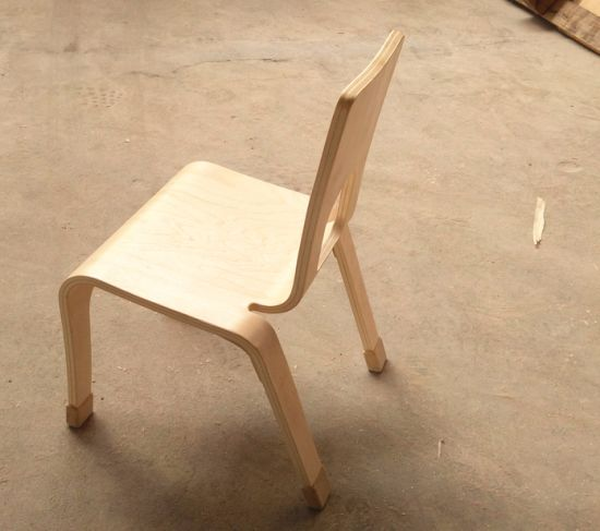 Children Furniture One Piece Bent Plywood Chair pictures & photos