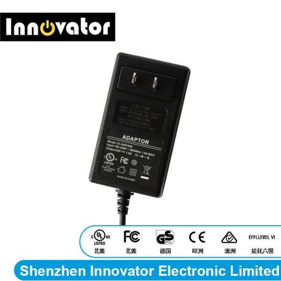 Us Plug 24V 1.5A 36W Wallmount AC DC Power Adapter