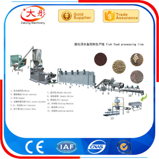 High Quality Floating Fish Food Pellet Extruder pictures & photos
