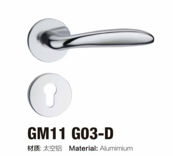 Good Quality Simple Design Aluminium Rosette Door Handle Lock (G11 G03 /G22  G03)