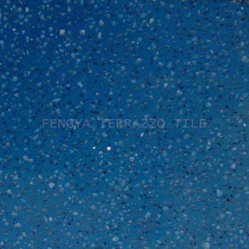 [Hot Item] Senior Strong Stone Tile, Modern Blue Terrazzo Tile, Man Made  Stone Mix Glass