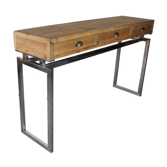 Groovy Metal Foyer Table With Drawers Sofa Console Entry Table Pabps2019 Chair Design Images Pabps2019Com