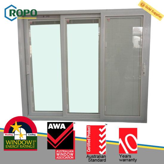 China Anti Theft Security Upvc Plastic Sliding Glass Door Australian