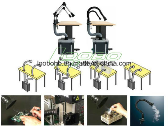 Portable Mini Size Soldering Fume Extractor/Smoke Exhaust and Air Cleaning pictures & photos
