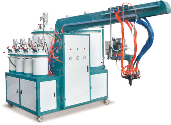 PU Pouring Machine (Double density 4 color) pictures & photos