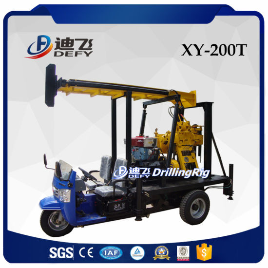 Xy-200t 200m Depth Tractor Mobile Drilling Rigs for Sale