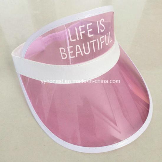 ed6a19886184 China Custom Fashion Cheap Colorful PVC Sun Visor Hat - China Sun ...