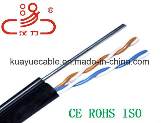 Drop Wire 1pair24AWG 1.2 Messenger Telephone Cable/Computer Cable/Data Cable/Communication Cable/Audio Cable/Connector pictures & photos