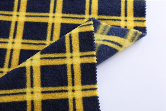 Houndstooth Printed Polar Fleece Fabric, Home Wear, Pajamas, Sweater, Blanket Fabric, Spot Factory Direct Wholesale
